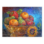 Fruits and Sunflower Painting Art - Multi Postcards