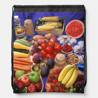 Fruits and vegetables drawstring bags