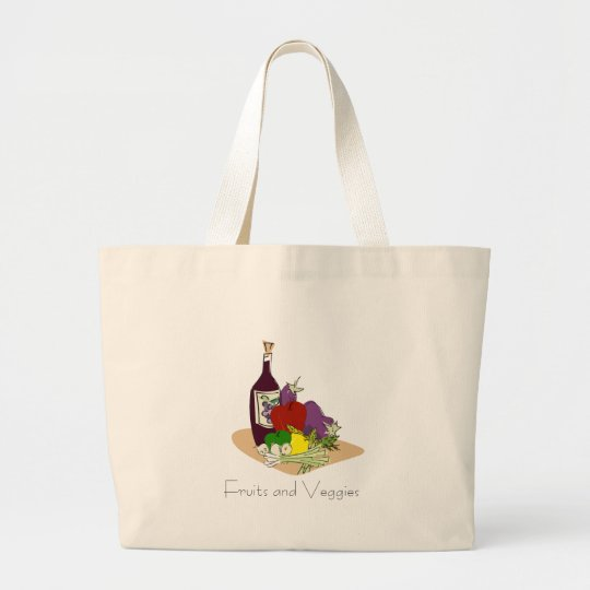 Fruits and Veggies Grocery Tote