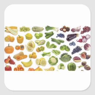 Fruits and Veggies! Square Sticker