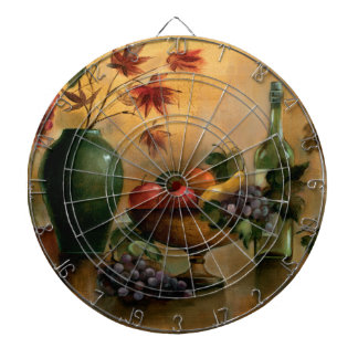 Fruits and Wine with Autumn Hues Dartboard