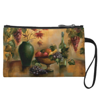 Fruits and Wine with Autumn Hues Wristlet