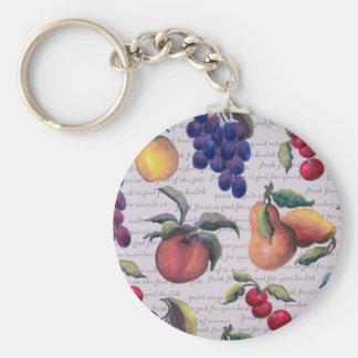 fruits basic round button key ring