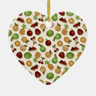 Fruits Ceramic Heart Decoration