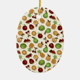 Fruits Ceramic Oval Decoration