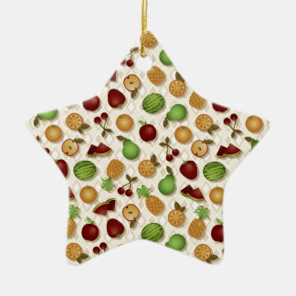 Fruits Ceramic Star Decoration