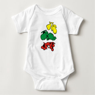 Fruits for babies baby bodysuit