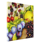 Fruits from the hedgerow painting canvas art print gallery wrapped canvas