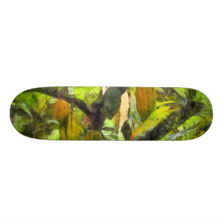 Fruits hanging down from a branch 21.6 cm old school skateboard deck