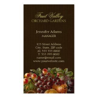 Fruits Harvest Orchard Gardening business card