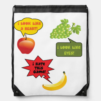 Fruits joke, banana rage drawstring bag
