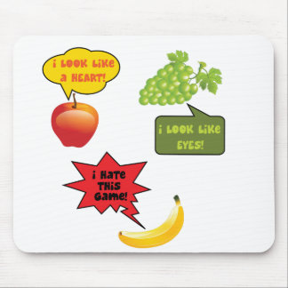 Fruits joke, banana rage mouse mat
