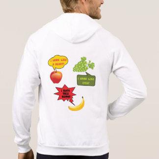 Fruits joke, banana rage hooded pullover