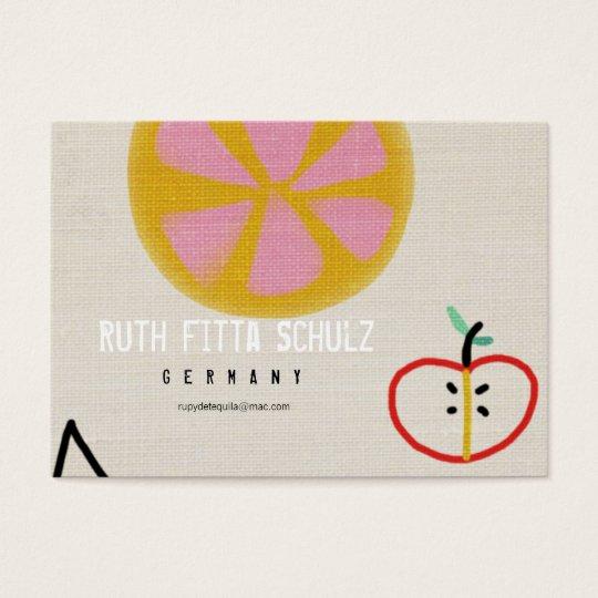 Fruits Juicy Sweet Orange Apple Business Card