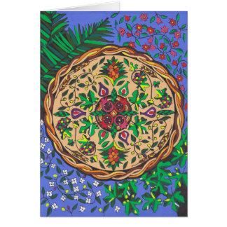 Fruits of Israel Mandala Card