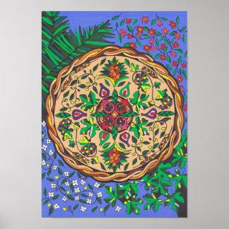 Fruits of Israel Mandala Poster