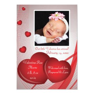 "Fruits of Love Photo Valentine Card 5"" X 7"" Invitation Card"
