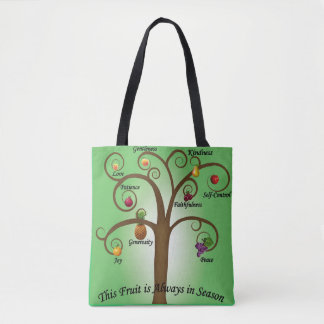 Fruits of the spirit beach bag tote bag