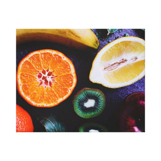 Fruits on A table Canvas Print