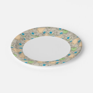Fruits pattern 7 inch paper plate