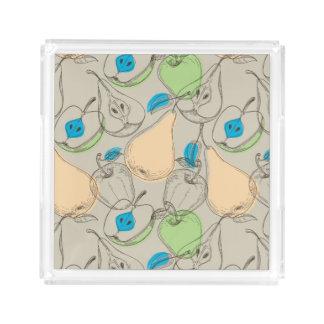 Fruits pattern acrylic tray