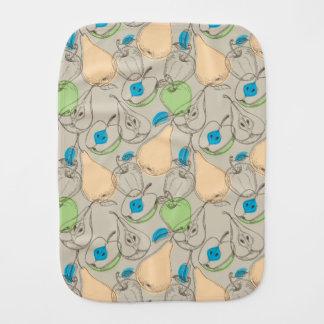 Fruits pattern burp cloth