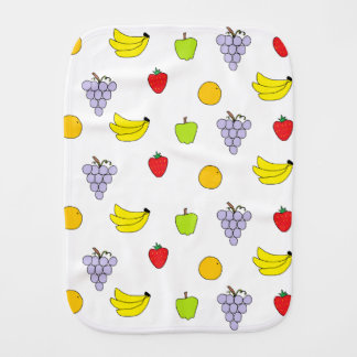 Fruits Pattern Baby Burp Cloths