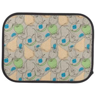Fruits pattern car mat