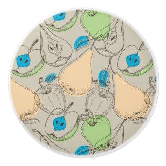 Fruits pattern ceramic knob