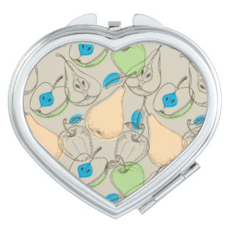 Fruits pattern compact mirrors