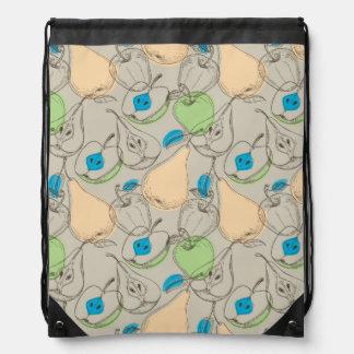 Fruits pattern drawstring bag