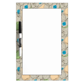 Fruits pattern dry erase board