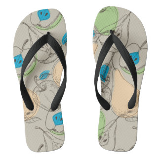 Fruits pattern flip flops