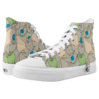 Fruits pattern high tops