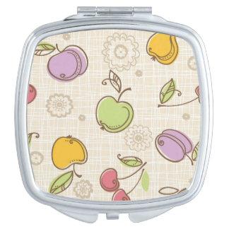 Fruits Pattern Makeup Mirror