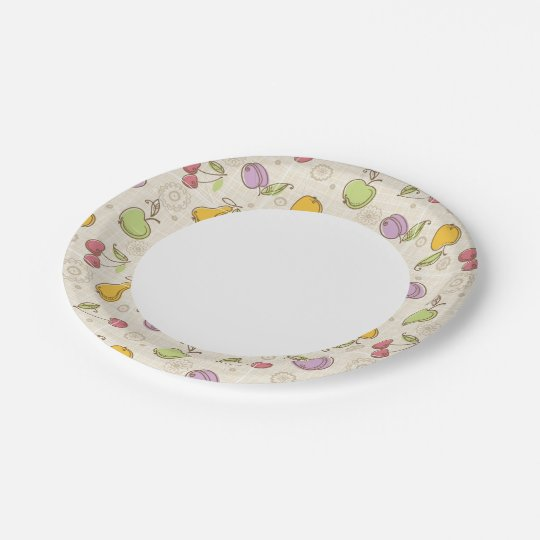 Fruits Pattern Paper Plate