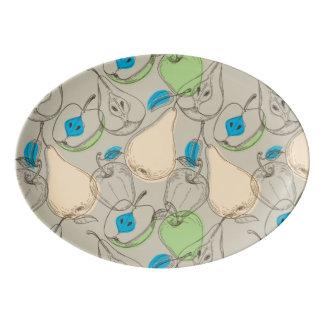 Fruits pattern porcelain serving platter
