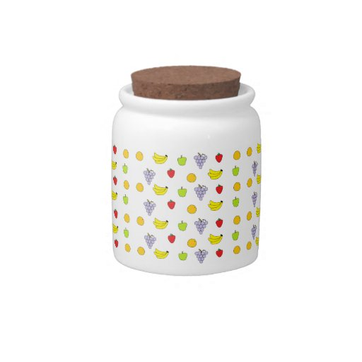 Fruits Pattern Candy Jars