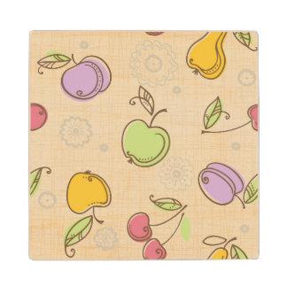 Fruits Pattern Wood Coaster