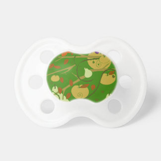 fruits stencil baby pacifier
