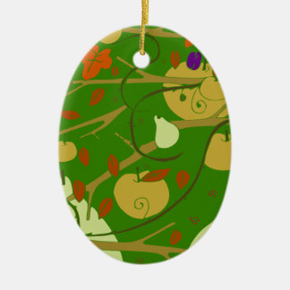 fruits stencil christmas ornament