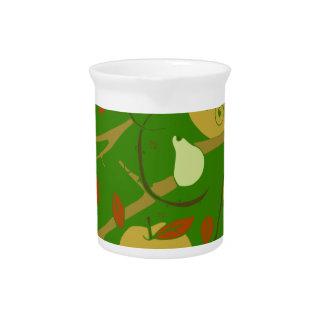 fruits stencil pitcher