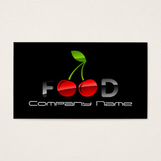 Fruits Vegetables Nutritionist Red Cherry Berry Business Card