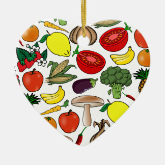 Fruits & Vegetables ornament, customize Christmas Ornament
