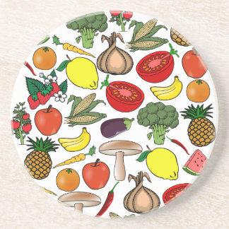 Fruits & Veggies coaster