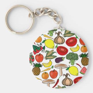 Fruits & Veggies key chain, choose style Key Ring
