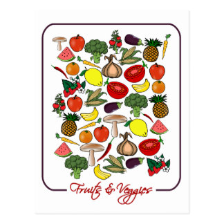 Fruits & Veggies postcard, customize Postcard