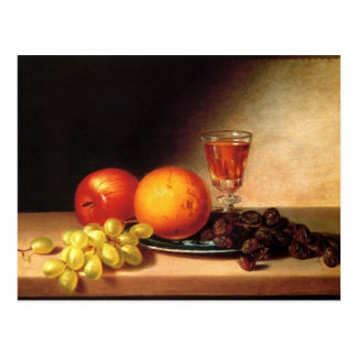 Fruits & Wine by Sarah Miriam Peale Postcard
