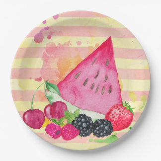 Fruity 9 Inch Paper Plate
