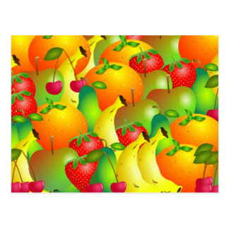 Fruity Background Postcard